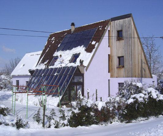Une maison bioclimatique en alsace le site de ren bickel - Maison bioclimatique alsace ...