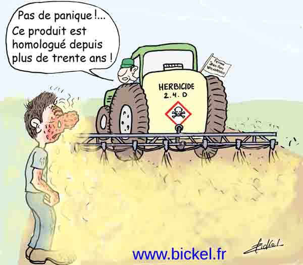 Épandage de pesticides en question
